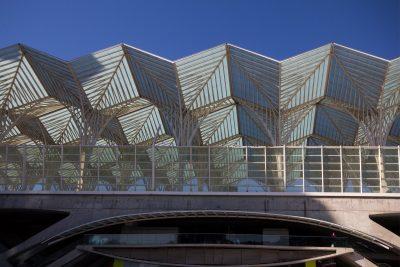 Oriente train station, Lisbon, roof structure