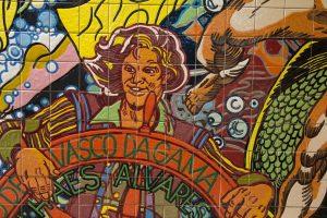 Vasco da Gama tile mural