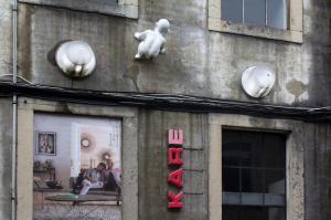 Crawling baby, LX Factory, Lisbon