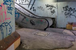 Escalator, Alcantara station, Lisbon
