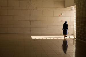 Fatima nun in basilica