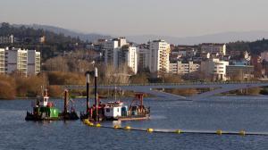 Mondego river and modern Coimbra