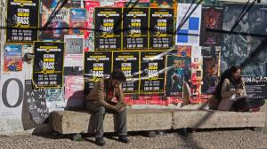 People and posters, LX Factory, Lisbon